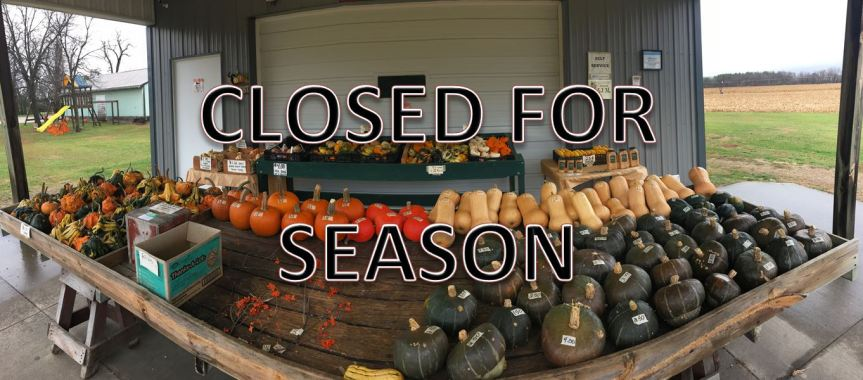 CLOSED FOR SEASON