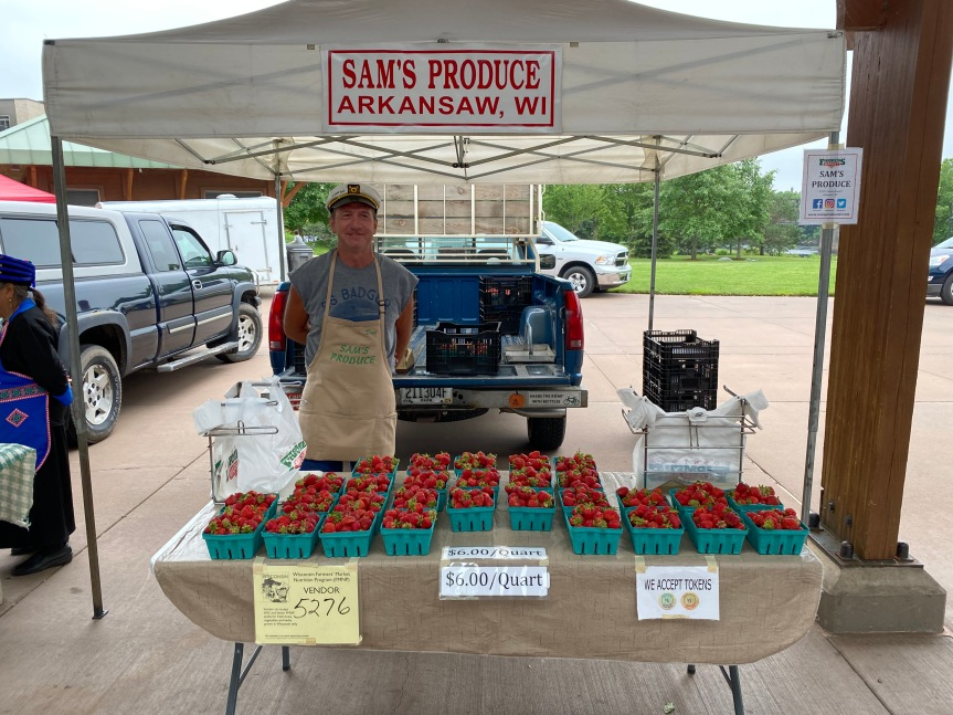 Strawberries at the Eau Claire Downtown Farmer's Market (Wednesday,6/30)